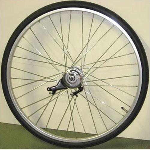 ワールド 26インチ リアホイール アルミリム 内装3段 ローラーブレーキ付(11C) タイヤチューブセット