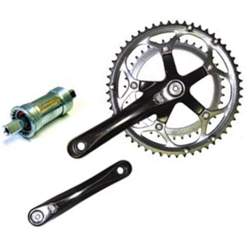パワーツールズ ALLOY BLACK クランクセット 【自転車】【ロードレーサーパーツ】【パワーツールズ】