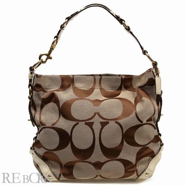 986ad902 COACH coach bag outlet signature Carly large shoulder 10620 khaki X beige  ivory