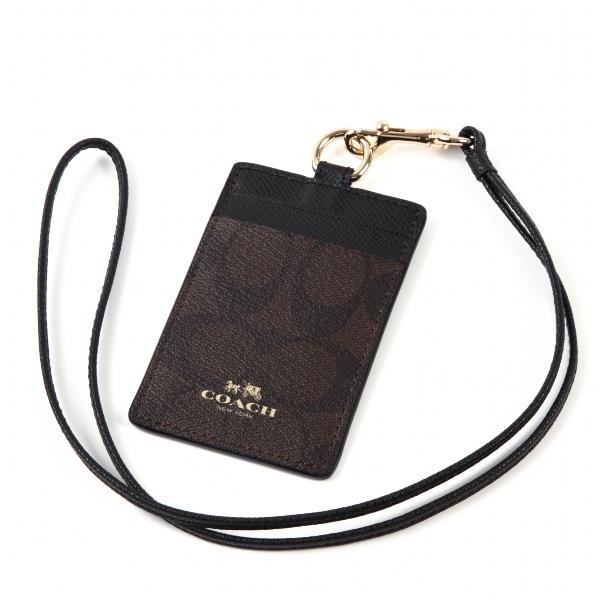e6418a5ec020 Coach COACH accessory outlet ID case signature lanyard card case clear  purse 63274 ...