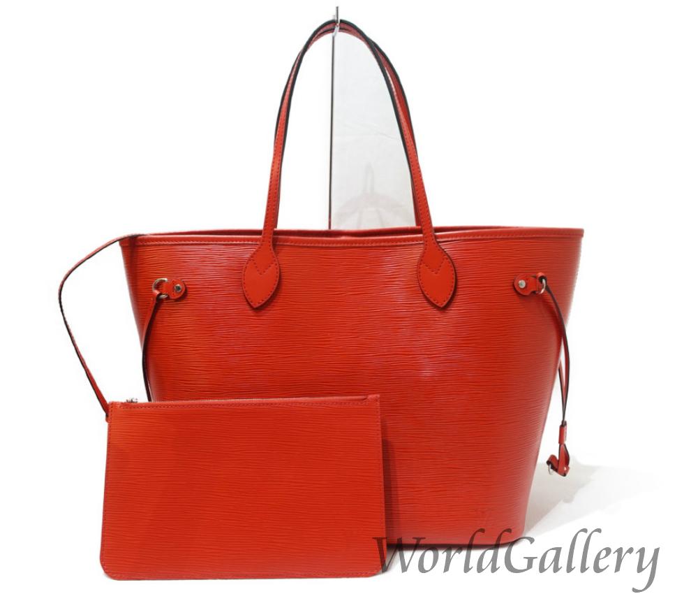 559732a6e607 【中古】ルイヴィトンLOUISVUITTONバッグ鞄かばんエピオレンジ赤レッドトートショルダーポーチ