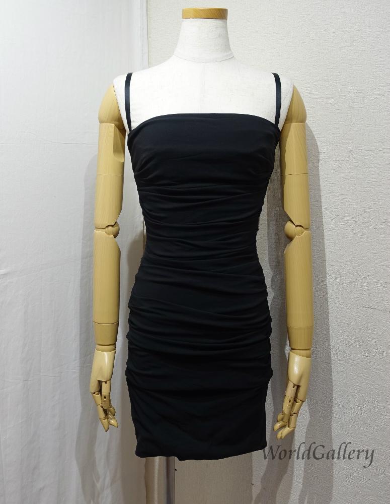 中古 DOLCE GABBANA ドルチェ ガッバーナ ドルガバ レディース サイズ38 業界No.1 黒 ブラック Black ドレス ワンピース ファッション 2020新作