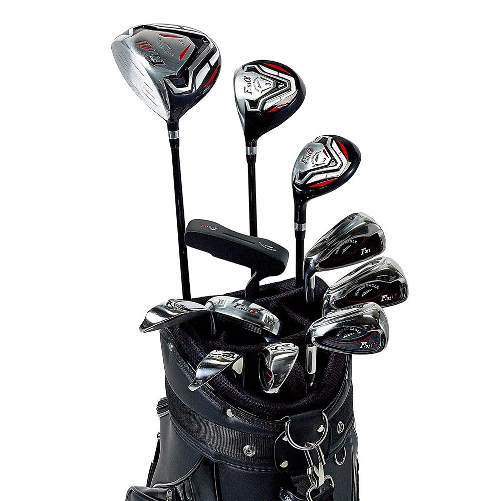 ワールドイーグル F-01αクロスモデル メンズ14点ゴルフクラブフルセット 左用 CBX001バッグ【初心者 初級者 ビギナー】【ssclst】