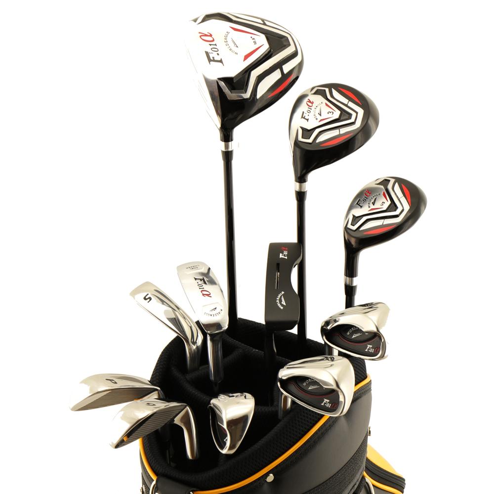 ワールドイーグル F-01αクロスモデル メンズ14点ゴルフクラブフルセット 左用 CBX007バッグ【初心者 初級者 ビギナー】