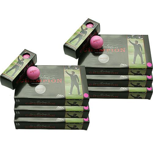 飛びの追求 ゴルフボール MDゴルフ セベ チャンピオン 6パック 90球 ボール 休み 蛍光ピンク 時間指定不可