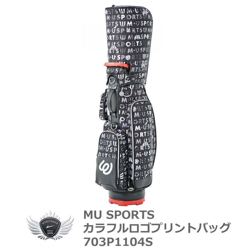 MU SPORTS エムユースポーツ 8.5型キャディバッグ レギュラーソール ブラック 703P1104S ミエコ・ウエサコ
