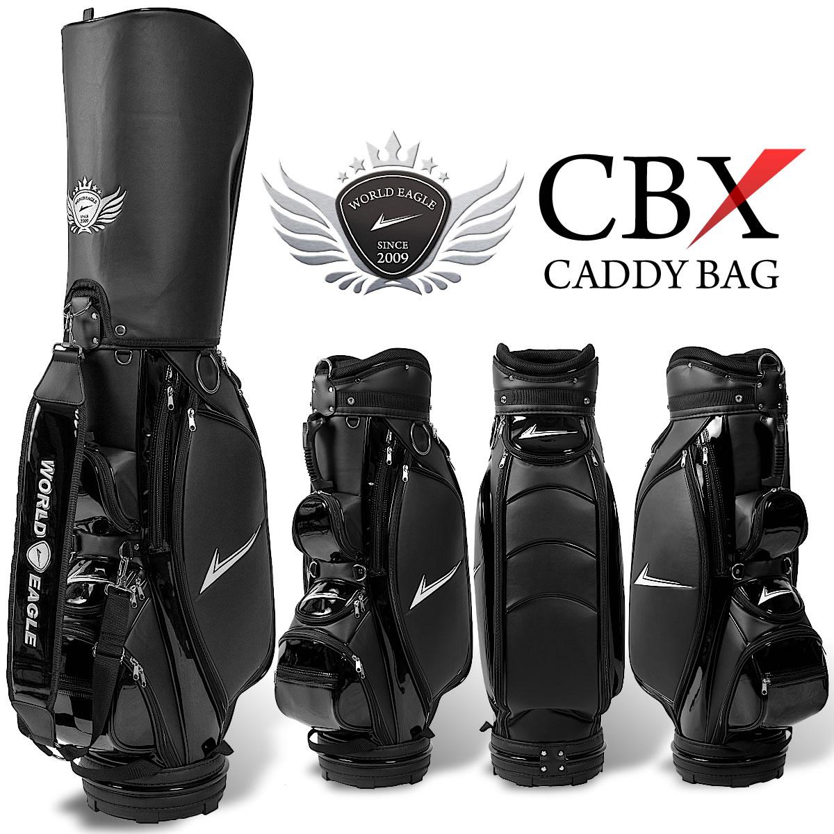 ワールドイーグル キャディバッグ CBX001 ブラック【add-option】