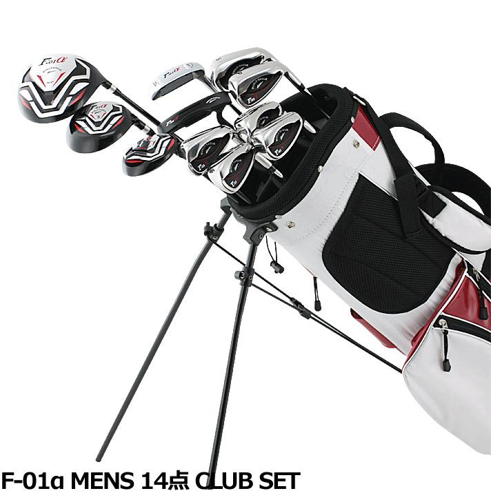 ワールドイーグル F-01α メンズ14点ゴルフクラブセットフレックスR /S バック:ホワイトレッド 右用【初心者 初級者 ビギナー】