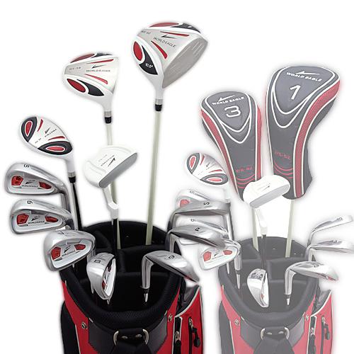 ワールドイーグル 5Z-WHITE メンズゴルフクラブ14点フルセット 4色から選べるバッグ!右用