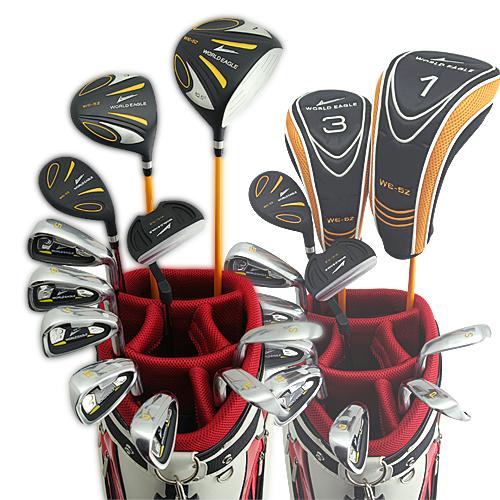 ワールドイーグル 5Zフルセット+CBXキャディーバック ブラック+ホワイト・レッドver 14点ゴルフクラブセット 右利き用【初心者 初級者 ビギナー】