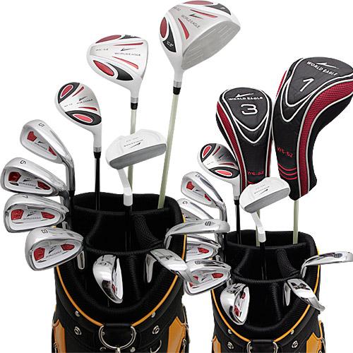 ワールドイーグル 5Z-ホワイト + CBX007カートバッグ メンズゴルフクラブ14点フルセット 右用