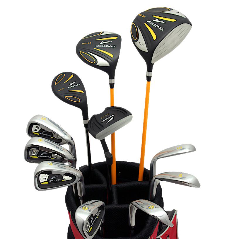 ワールドイーグル 5Z-BLACK メンズゴルフクラブ14点フルセット レッドバッグVer. 右用【add-option】