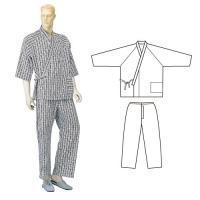 コベス 紳士パジャマ型ねまき(おくつろ着) ネイビー No.32