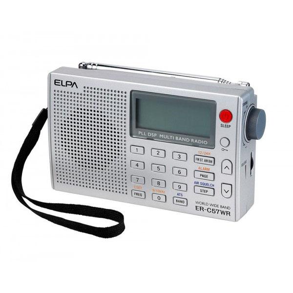 趣味に活躍 送料無料新品 エアバンドラジオ ELPA 中古 ER-C57WR ワールドラジオ