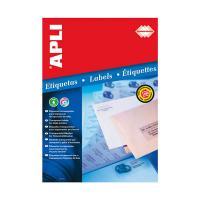 スペインAPLI社製の透明ラベル APLI 10967 インクジェットA4透明ラベル10枚21面 記念日 大好評です