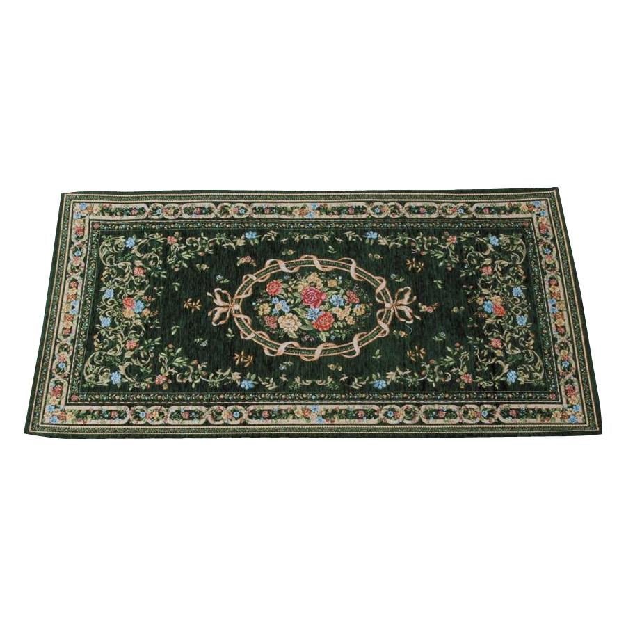 玄関を華やかに彩る美しいゴブラン織 ゴブラン織 セール シェニールマット 玄関マット YAN04850HG 超激安 約50×80cm グリーン