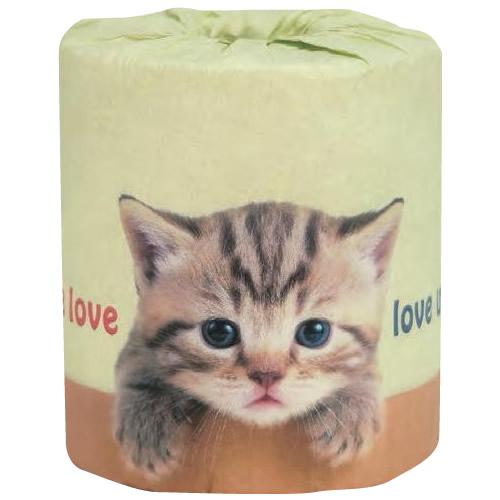 【送料無料】ネコ好きのためのトイレットペーパー やっぱり猫が好き1ロール×100入 2962