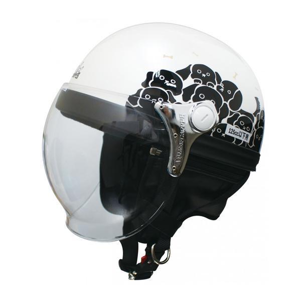 ダムトラックス(DAMMTRAX) カリーナ ハーフ ヘルメット WHITE/DOG