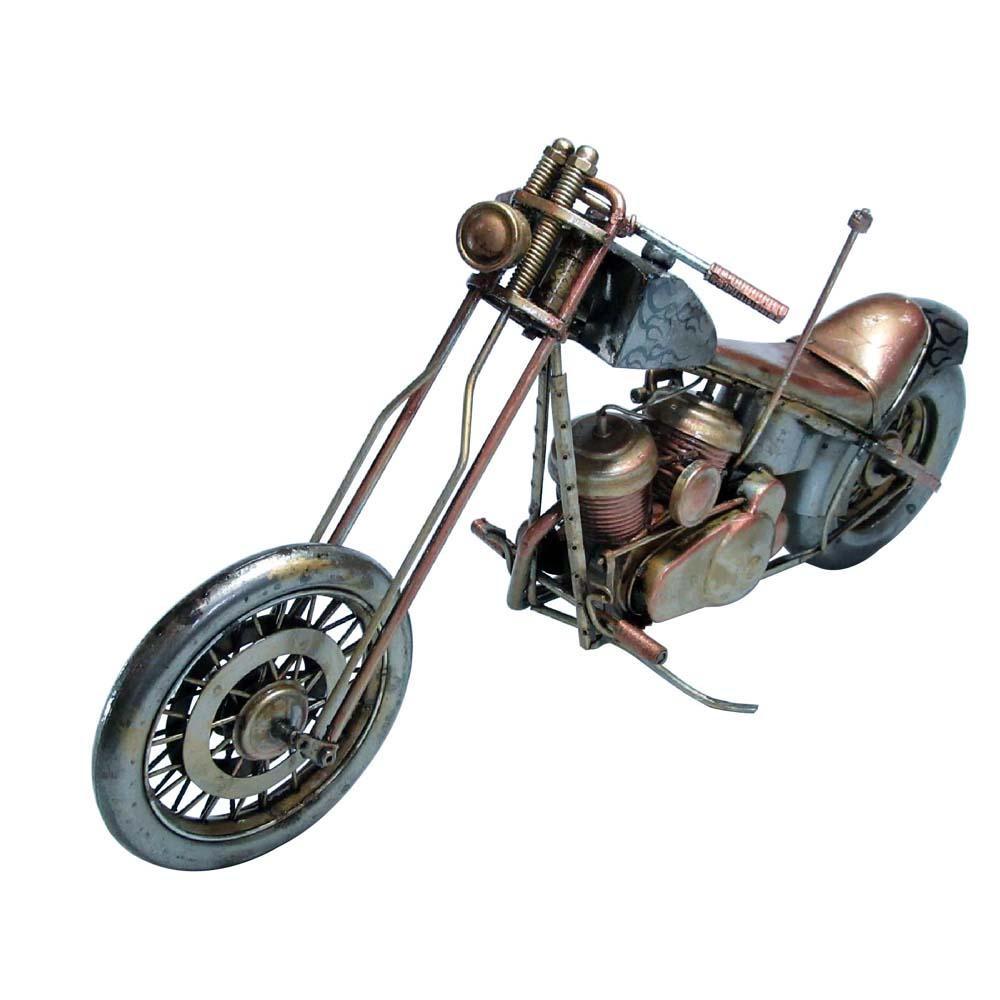 アンティークオブジェ ブリキのおもちゃ(motorcycle) 27619