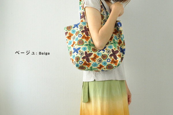 Butterfly Tote lunch bags pattern canvas Asian ethnic Nordic cloth bag lunch