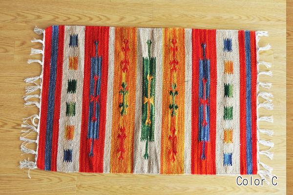 Tabisuru Asia No Zakkaten Cotton Kilim Door Mat Room In