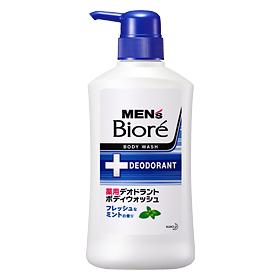 作為花王男子的二我有藥效除臭劑沐浴露新鮮的薄荷的香味本體440ml 9個安排Kao Men's Biore 4901301306074