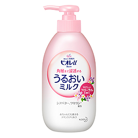 It is fragrance 300 ml 24 set Kao Biore U 4901301313140 of the penetration moisture milk floral to the Kao ビオレ u corner layer