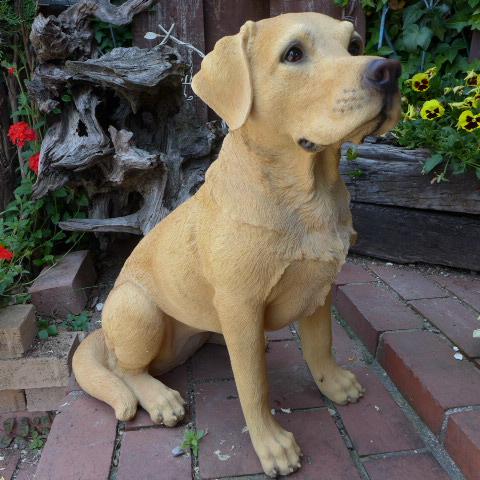 犬の置物 大型ラブラドールレトリバー 2QY14050 いぬ イヌ 動物 オーナメント ガーデン インテリア 雑貨 置物 庭 ガーデンマスコット リアル デスプレィ