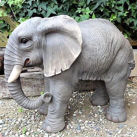 ぞうの置物 ゾウ 象 エレファント 41QY 動物 置物 玄関 オブジェ ガーデン オーナメント ガーデニング ガーデンオブジェ アニマル リアル 庭