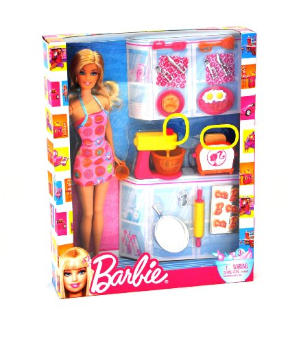 バービー人形 Barbie Doll and Kitchen Accessory Set
