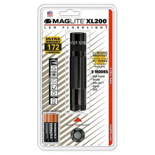 MAGLITE(マグライト) XL200 LED Flashlight, Black