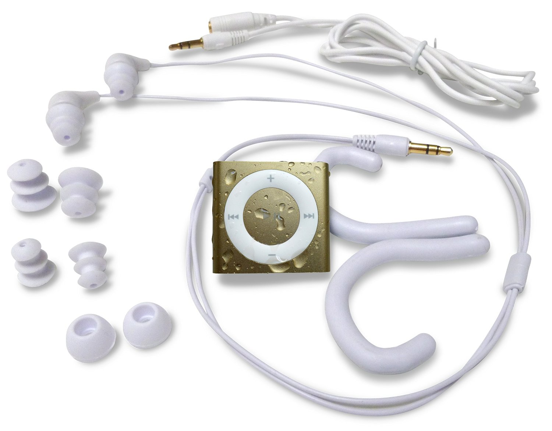 水泳用iPod Shuffle 防水仕様 Underwater Audio Waterproof iPod Mega Bundle  (GOLD)