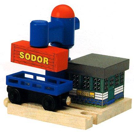 ラーニングカーブ きかんしゃトーマス 木製レールシリーズ カーゴドロップ FC-30042