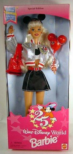 Disney ディズニー Barbie バービー - Walt Disney ディズニー World 25th Anniverary Doll 人形 ドール