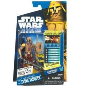 Star Wars 2010 Clone Wars Animated Action Figure CW No. 26 Flamethrower Clone Trooper