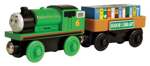ラーニングカーブ きかんしゃトーマス 木製レールシリーズ パーシーとストーリーブックカー