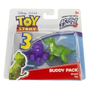 ストレッチ & Rex: トイストーリー3 Action Links Mini-Figure Buddy パック