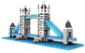 Micro Blocks, British Tower Bridge Model, Small Building Block Set, Nanoblock (ナノブロック) Compa
