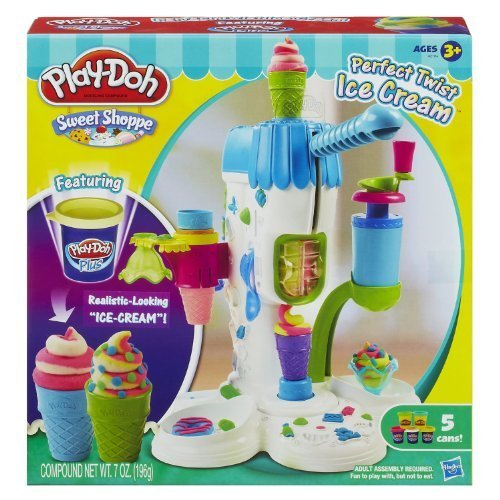 Play-Doh Perfect Twist Ice Cream Playset (MFG Age: 6 years and up)(?Crank out realistic-looking