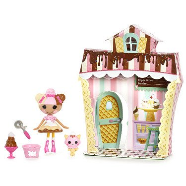 Mini Lalaloopsy Doll-ミニララループシードール- Sweet Shop with Figure and Accessories Scoops Waffl