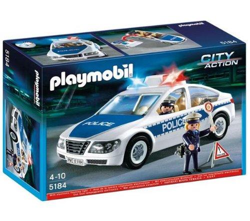 プレイモービル ライト点灯Police Car☆playmobil【5184】