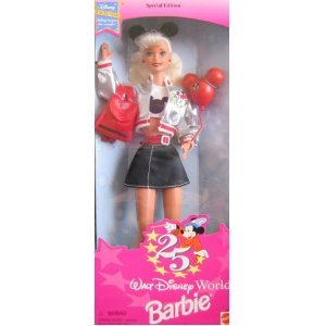 Barbie 1996 Special Edition Walt Disney World - Exclusive 25th Anniversary Disney Barbie with T-Sh