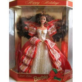 バービーHappy Holidays 1997 Special Edition Barbie, Brunette 10th Anniversary   17832