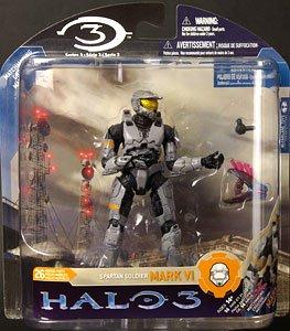 HALO3<ヘイロー3>アクションフィギュア シリーズ3/スパルタン・ソルジャー<シルバー ミョルニム アー