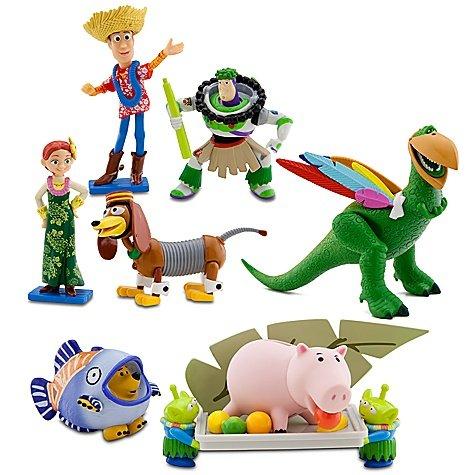トイストーリー Disney Toy Story Hawaiian Vacation Deluxe 7 Figurine Set