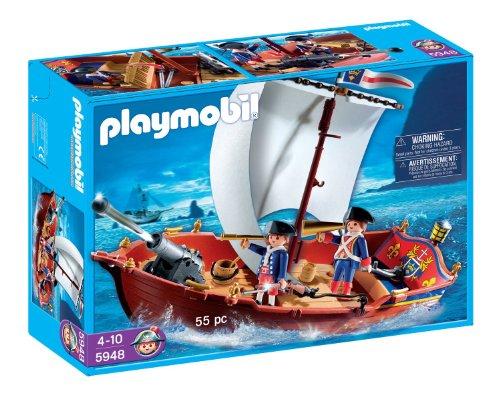 Playmobil(プレイモービル) Soldiers Boat 船 戦艦 5948