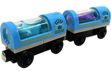 ラーニングカーブ きかんしゃトーマス 木製レール 水族館貨車 99160