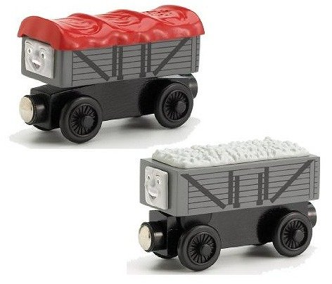 ラーニングカーブ きかんしゃトーマス 木製レールシリーズ 笑ういたずら貨車・いじわる貨車 LC99131