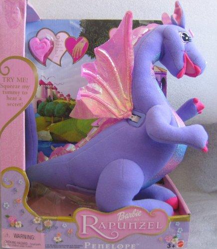 Barbie Rapunzel Talking PENELOPE Dragon Approx. 13-1/2
