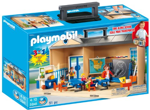 Playmobil(プレイモービル) Take Along School Playset スクール プレイセット 5941